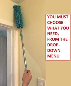 CLEANING DUSTER CLEANER MICROFIBRE TELESCOPIC EXTENDABLE DUSTER GREEN MANY PACKS