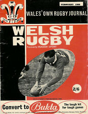 FEBRUARY 1966 WELSH RUGBY MAG BRECON RFC KENFIG HILL NEWPORT POLICE ALUN PASK