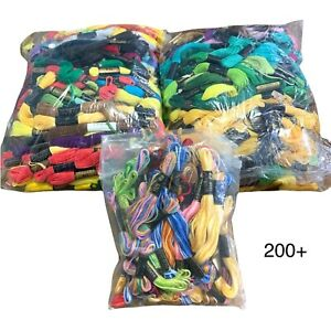 200+ Skeins J & P Coats American Thread Embroidery Floss Multiple Colors