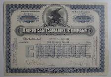 1927 American Candy Co. Original Stock option certificate