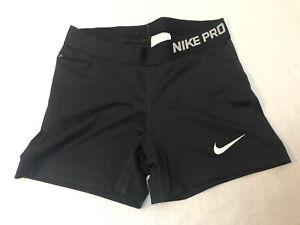 Nike Pro Black Women Size M Medium Compression Shorts Active