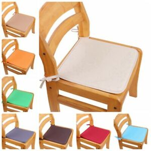 Kitchen Office Tie On Chair Cushions Chair Cover Seat Pad Home Decoration