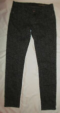 BLANK NYC cheetah leopard gray and black print skinny ankle jeans 26   ***