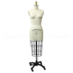 Professional Sewing Dress Form Size 6 Dressform Manequin, High Quality