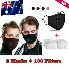 Washable Reusable Adult Anti Air Pollution Face Mask Respirator Mask+ Filters