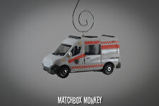 Renault Master Ambulance Rescue EMT Custom Christmas Ornament 1/64 Scale Adorno