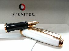 Sheaffer Prelude- White Lacquer -Fountain Pen Blue Ink W/ Med Nib & Converter