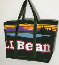 LL Bean Everyday Katahdin Large Tote Bag Spruce Green Logo Zipper Closure NWT
