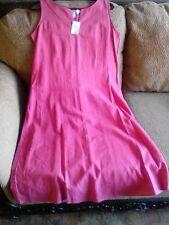 Cold Water Creek Linen-Cotton Rose Pink Sleeveless Dress Size PM