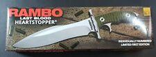 "Rambo Last Blood Heartstopper Bowie Full Tang Fixed Blade Knife Certificate 15"""