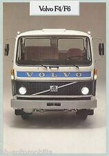 Volvo F4 F6 Prospekt 1981 8/81 brochure prospectus broschyr brosjyre lastbil LKW