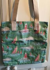 Cath Kidston Thick Canvas Book Bag Green Boats BNWT