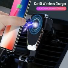 10W Auto Clamping Car Mount QI Wireless Fast Charger Holder Stand For iPhone 11