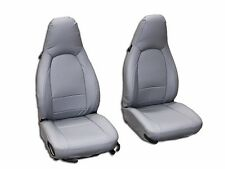 PORSCHE BOXSTER 1997-2004 GREY S.LEATHER CUSTOM MADE FIT FRONT SEAT COVER