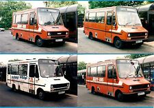 4 Photos ~ Midland Red South: 1986 Robin Hood Iveco Minibuses in Nuneaton: 1992