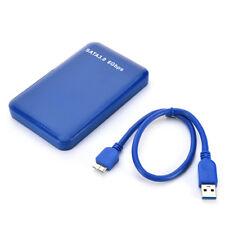 "USB 3.0 2.5"" SSD HDD Hard Drive Disk SATA I/II/III External Enclosure Case Blue"