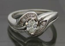 MK 14k White Gold Ring Womens Ladies Size 6.75 Solitaire Engagement Womens