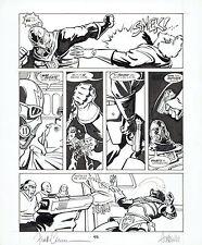 Frank Cirocco, pencils & Chuck Austen, inks original art page Buck Rogers c.1990