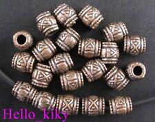 80 Pcs Antiqued copper plt barrel spacer beads A953