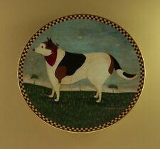 Barnyard Dog Warren Kimble Barnyard Animals Plate Folk Art Farm Charming!
