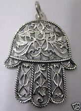 LOOK Jewish Israel hand Hamsa Pendant Charm Sterling Silver