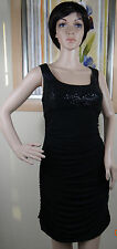 NWOT Genuine JS BOUTIQUE black sequin detail sleeveless jersey dress, size 10