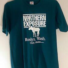 Vintage 1990 Northern Exposure Men's Size L T-Shirt Roslyn, Washington Alaska