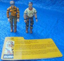 GI Joe ARAH Action Figure Lot Hasbro Tiger Force Bazooka Lifeline File Card 1988