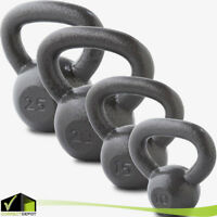 KETTLEBELL Solid Cast Iron Weights 10-25 LBS Workout Hand Exercise Squat Fitness