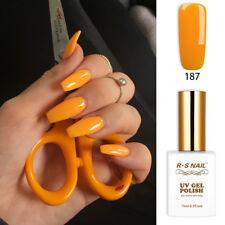 RS Nail Gel Nail Polish UV LED Sequined Varnish Soak Off UV Gel Yellow Colour