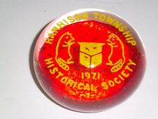 HARRISON TOWNSHIP HISTORICAL SOCIETY 1971 Paperweight Mullica Hill NJ