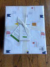 Pottery Barn 100% Organic Cotton King Size Flag Sheet Set