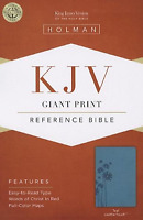 KJV Large Giant Print Reference Bible, Teal LeatherTouch - BRAND NEW!!!