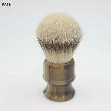 Faux Horn Resin handle Silvertip Badger Hair Men Shave Brush