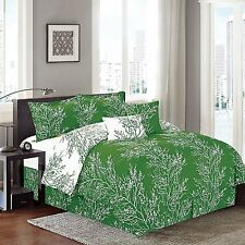 """Natural 6 Piece Branches (90""""X90 Inch) Reversible Printed Soft comforter set"""