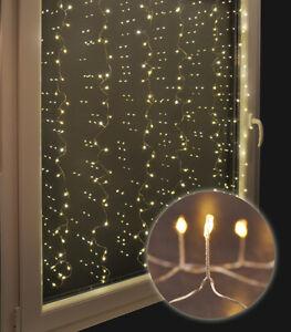 Lichterkette 240 LED Lichter Vorhang Fensterbeleuchtung Weihnachten Innen Außen