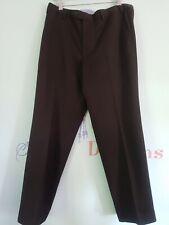 Mens M&S Trousers Dark Brown 36 Regular fit Crease Resistant