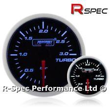 52mm Prosport Super Blue White Turbo Diesel 3 Bar Boost Gauge Kit - TDI DIESEL
