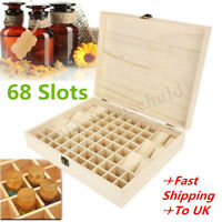 68 Slots Essential Oil Bottle Wooden Storage Box Wood Aromatherapy