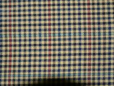 "Worsted wool check fabric sample length 3.3m.(10ft10ins) length, 82cm(32"") width"