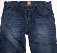 Mens HUGO BOSS Orange 63 Jeans W32 L32 Blue Straight Slim Fit
