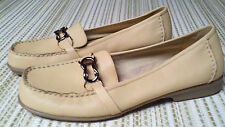 "AEROSOLES ""What's What"" 5 Matisfaction Womens leather brown beige loafer Size 10"
