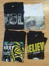 Lot of 4 Authentic Pop/Rock Concert Shirts Bieber, Lady Gaga, Kings of Leon