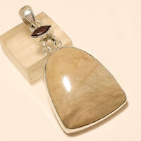 Natural African Desert Jasper Pendant 925 Sterling Silver Valentine Jewelry Gift