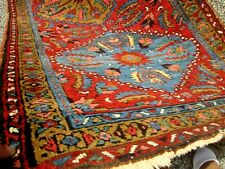 Antique Persian Heriz 5 Medallion Runner W/Beautiful Colors_Highly Desirable