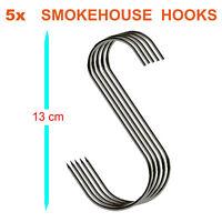 BUTCHERS HOOKS,MEAT SMOKE HOUSE HOOK,(13CM) PACK OF 5