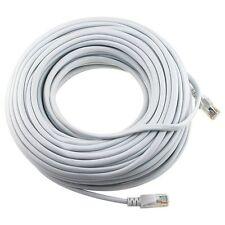 2x 100FT CAT5e Cable Ethernet Lan Network CAT5 RJ45 Patch Cord Internet White