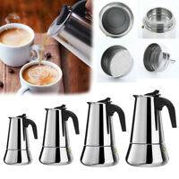 Big Belly Stainless Steel Mocha Espresso Percolator Stove Top Coffee Maker Pot