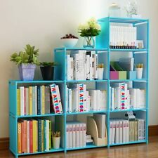 New ListingDiy Adjustable Bookcase, Bookshelf with 9 Book Shelves, Home Furniture Storage~