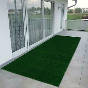 Green Turf Artificial Grass Solid Non-Slip Indoor Outdoor Area Rug RV Patio Mat
